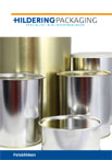 Product brochure seamed lid cans